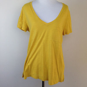 Madewell  Mustard Tshirt medium